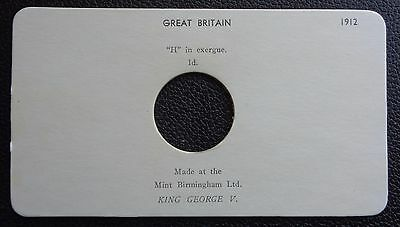 1912 H Penny Presentation Card - Card Only