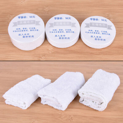 1Xcompressed towels cotton hotels camping trip travel essential easy carry P&T