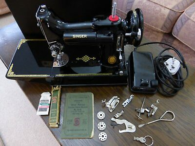 Singer  221 Featherweight Sewing  Machine   Serviced & Pat Tested