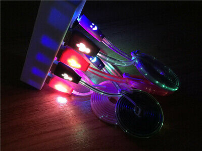 Micro USB Charger Cable Charging Cord for Android Cell Phone Adapter Light-up
