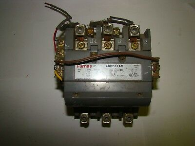 Furnas 40HP32A* Contactor, Size 3, Series A, 90A, 600VAC, Used