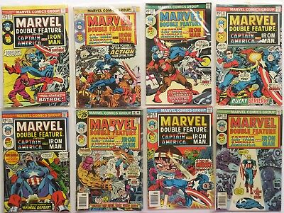 Marvel Double Feature Marvel Comic Book Lot of 8 1975