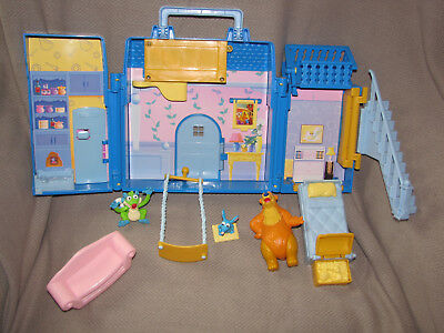 Jim Henson's Bear In The Big Blue House Playset Play set 2000 Very Rare Xmas Toy