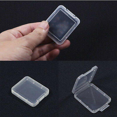 10PCS Transparent Standard CF Memory Card Case Holder Boxes Storage Plastic VJ