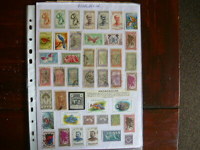 Madagascar...3Plus Pages Of Stamps Including French Colonials..& Malagasy Issues