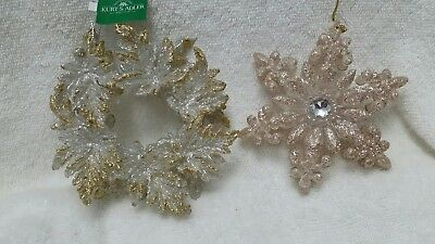 wreath ornament and Snowflake