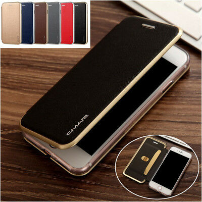 Luxury Leather Wallet Card Slim Case Magnetic Flip Cover For iPhone 8 6S 7 8Plus