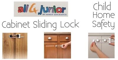 Cabinet Sliding Lock Child Home Safety For Cupboards And Cabinets New