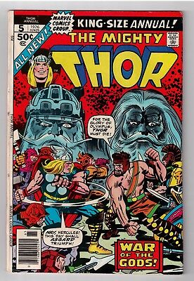 Thor Annual #5 (November 1976, Marvel) Jack Kirby cover    GD/VG (3.0)