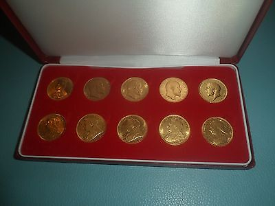 10 Full Gold Sovereigns ,6 Victoria, 3 Edward, 1 George V great, not scrap