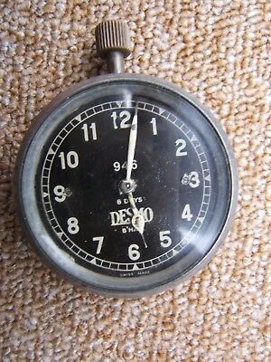 "Vintage Desmo Smiths 2"" 8 Day Car Or Motorcycle Clock Ariel Morris Mg Sunbeam"