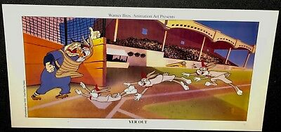 Warner Brothers Bugs Bunny Cel Promo Card Long Yer Out