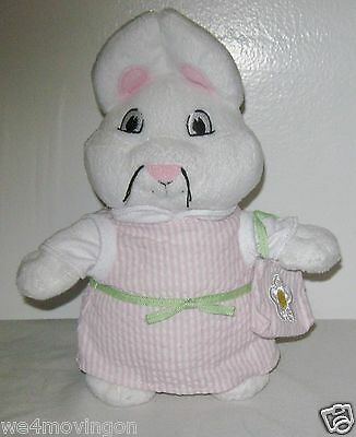 """Rare~2011 Rosemary Wells~Ruby Plush From Max And Ruby~Pink & White Dress~9""""h"""
