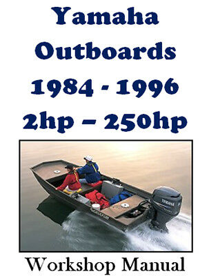 YAMAHA OUTBOARDS 1984-1996 2hp - 250hp WORKSHOP SERVICE REPAIR MANUAL ON CD