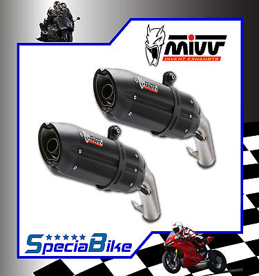 Exhaust Mivv Suono Steel Black Ducati Monster 696 2009 2 Slip-On Silencers