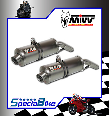 Exhaust Mivv Oval Stainless Steel Aprilia Pegaso 650 Strada 2014 2 Slip-On