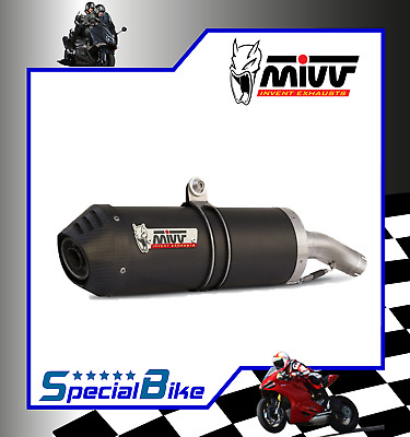 Exhaust Mivv Oval Carbon Cap Triumph Tiger 800 2013 Carbon Slip-On Silencer