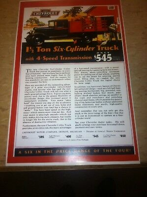 Vintage 1938 Ford Truck  Advertisement Poster Man Cave Gift Art Decor Z818