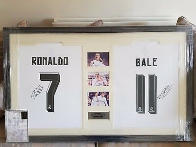 Cristiano Ronaldo and Gareth Bale framed signed shirts - SALE GOING TO CHARITY