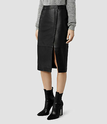 All Saints Leather skirt size 6UK RRP £290