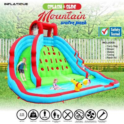Inflatable Water Slide Mountain Water Park | Jumping Castle Bouncer Waterslide