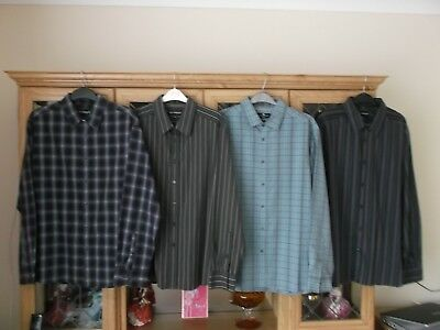 4 PACK BUNDLE MENS SHIRTS - SIZE XL - MARKS and SPENCER  AUTOGRAPH  BLUE HARBOUR