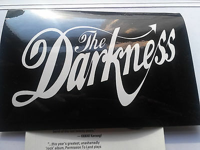 the darkness-debut  LP  postcard promo sticker-RARE