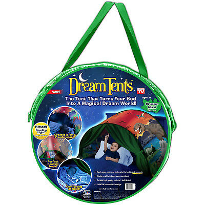 Dream Tents Pop Up Tent Dinosaur Island Twin Size Bed Kids Dino As Seen On Tv