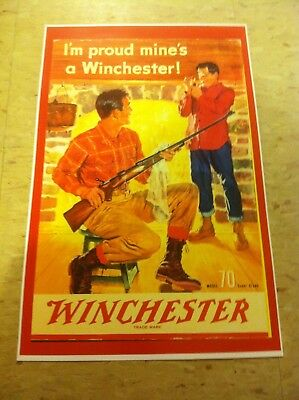Vintage Winchester Rifle Gun Advertisement Poster Man Cave Gift Art Decor