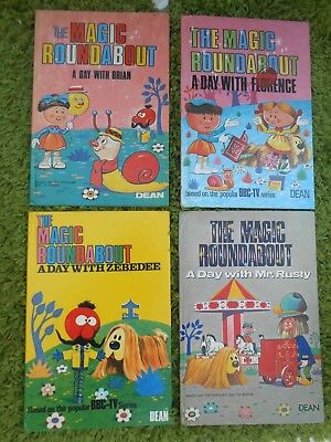 1968,1969,1970,DEAN book The MAGIC ROUNDABOUT,A Day With BRIAN,FLORENCE,Mr RUSTY