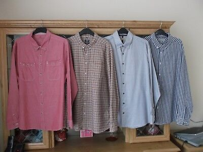 4 Pack Bundle Mens Long Sleeve Shirts - Size Xxl  Boston Crew- Easy - Collezione