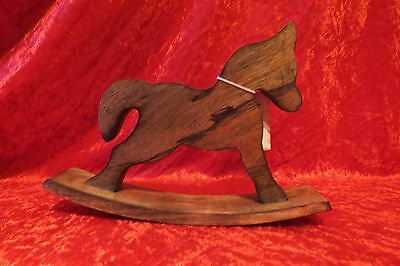 Fun little wooden rocking horse ornament
