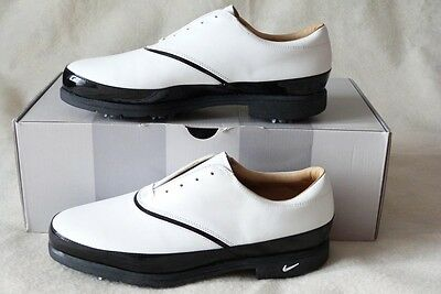 NIKE Golf White Leather Lace-up Shoes Ladies Size 9 ½ Scorpion Spikes