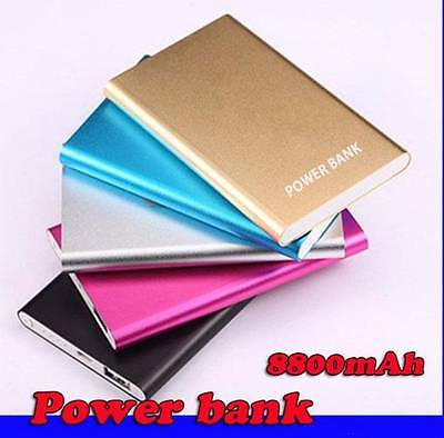 Ultrathin External Portable Powerbank 8800mAH  Backup Battery Charger for Cell