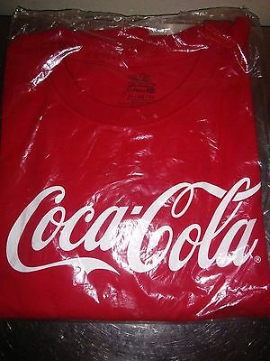 Coca Cola Unisex XL Red Shirt Fruit of the Loom Lofteez 100% cotton New NIP