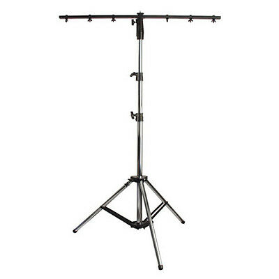 Showtec Tripod Stand MKII inc T-Bar Silver 40kg 2.6m Lighting Stand Overhead