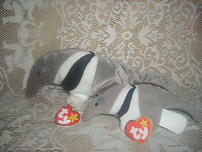 Ty Anteater Beanie Baby ANTS & Teenie Beanie Baby Antsy - tags & labels