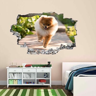 Pug Puppy Dog Animal Funny 3D Wall Sticker Mural Decal Poster Kids Room CS23
