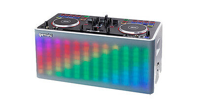 Gemini MIX2GO All-In-One System 2 Channel DJ Controller Lighting Effects DJ