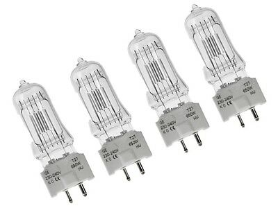 4 x T27 240V 650W G9.5 GCS GE BRAND BULB LAMP BOXED 88469 Theatre Lamps