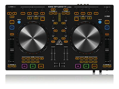 Behringer CMD Studio 4A 4-Deck Midi DJ Controller with USB Audio Interface Black