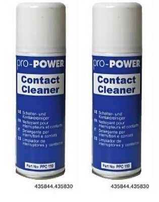 2 x Pro Power Switch Contact Cleaner Studio Audio Mixer Band DJ Spray