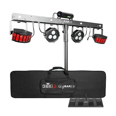Chauvet GigBar 2.0 IRC DJ Lighting System LED Derby Par Can Laser Strobe UV Kit