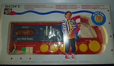My First Sony TCM-4040 Vintage Cassette Recorder with Sound Pads Drum Pad Animal