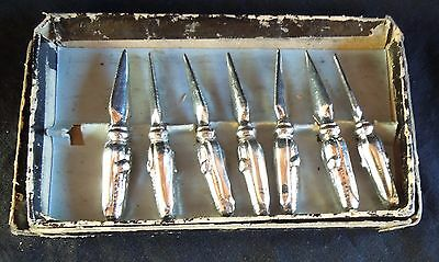 *LOT OF 7* Vintage Silver CORN HOLDERS PICKS 2.9 Inch * Heavy* FREE SHIPPING*