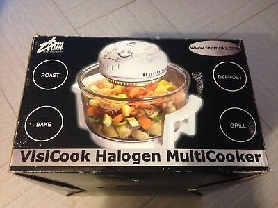 Team Visicook Halogen Turbo Fan Multicooker Classic Oven Grill White New 1300W