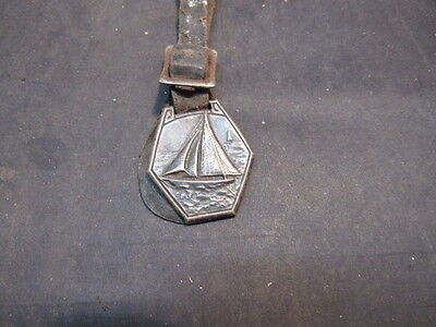 antique sterling silver watch fob