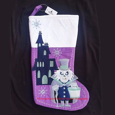 Disney Parks Haunted Mansion Hatbox Ghost Christmas Stocking Hat Box New W/ Tags