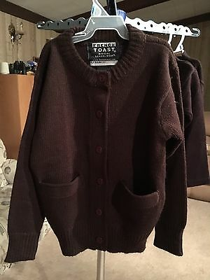 Boys Youth French Toast Size 6 Brown Button Up Cardigan Sweater New With Tags