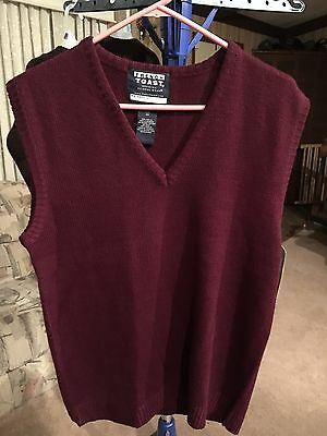 Boys Youth French Toast Size 20 Burgundy Vest  New With Tags